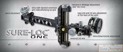 """Sure Loc Archery-One Compound Sight - 550 - 9"""" - Right Handed - Black"""