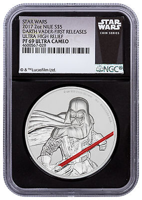 2017 Niue Star Wars Darth Vader UHR 2 oz Silver NGC PF69 UC FR Black SKU49469