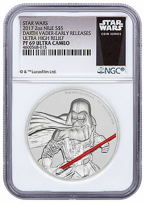 2017 Niue Star Wars - Darth Vader UHR 2 oz Silver NGC PF69 UC ER SKU49470