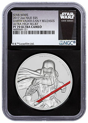 2017 Niue Star Wars - Darth Vader UHR 2 oz Silver NGC PF70 UC ER Black SKU49472