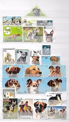 DOGS PUPPIES CANINE Interesting Thematic Topical Stamps LOT No.19030917