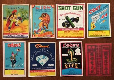 Starter Original Vintage Firecracker Label Lot