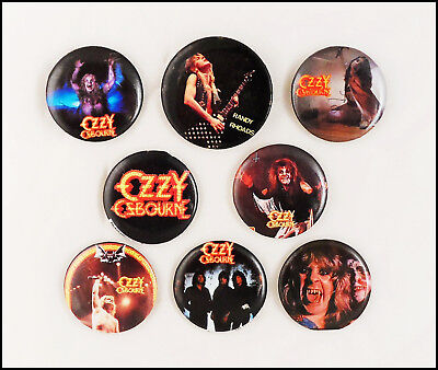 Ozzy Osbourne Randy Rhoads 8 80's Buttons Pins Blizzard Of Oz Dairy Of A Madman