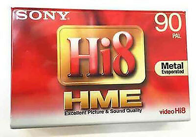 SONY Hi8 Video Cassette Tape - E5-90HME3 Metal Evaporated