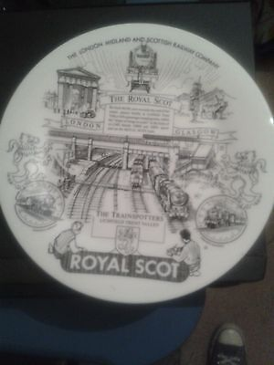 Trainspotters Lichfield Trent Valley Royal Scot Commemorative Plate.LMS.