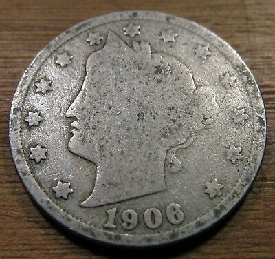 1906 Liberty Head V Nickel In Good Circulated Condition #5