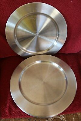 """Set of 10 13"""" Large Stainless Steel Charger Plate Entrée Appetizer Food Serving"""