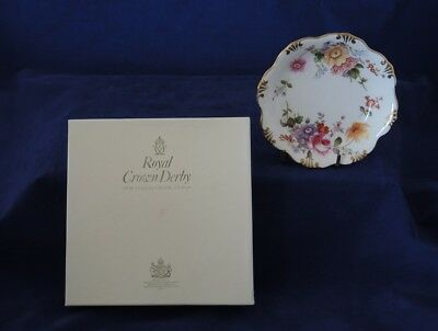 Royal Crown Derby Posies Pin / Butter Dish Second Quality Original Box #4