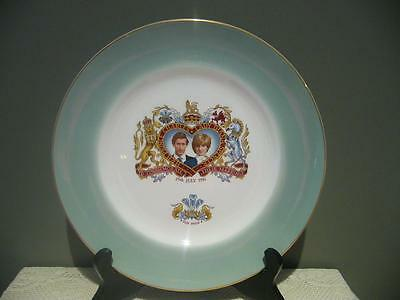Prince William Pottery Vintage Charles & Diana Collectable Wedding Plate - Vgc