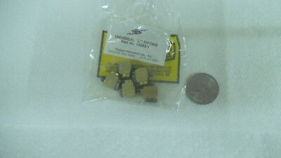 Clippard universal brass L fittings, 15002-1, 10-32 threads, 1 bag of 5 pcs, nos