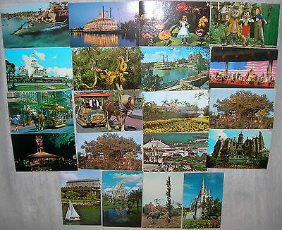 Lot of 20 Vintage Walt Disney World Postcards