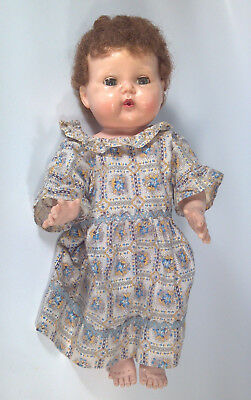 """Vintage 1950s Tiny Tears 16"""" American Character Doll Baby Rooted Wig Cap"""