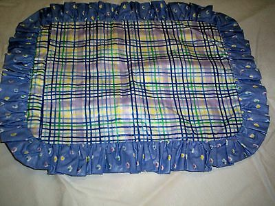Pillow Sham Blue, Purple, yellow and green