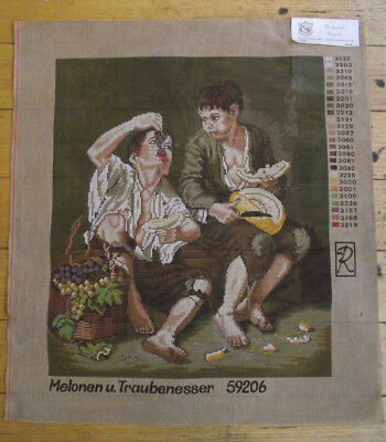 Vintage Large Tapestry: Melonen u. Taubenesser (Boys Eating Melons & Grapes)