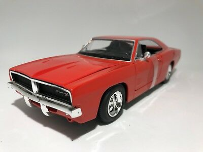 1969 DODGE CHARGER RT  scale 1:24 model toy diecast car
