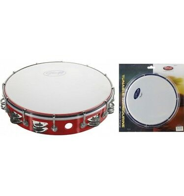 Tambourin plastique 12 pouces Stagg TAB-212P rouge