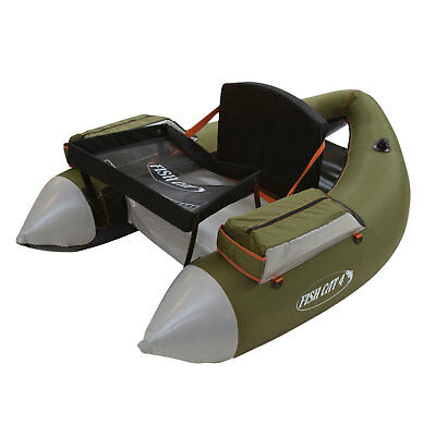 Outcast Fish Cat 4 LCS Olive Inflatable Fly Fishing Float Tube Foam Seat & Back