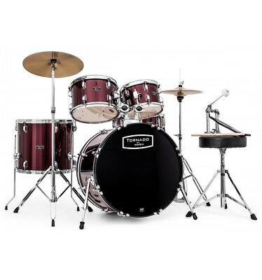 Batterie Tornado by Mapex Fusion 18'' - 5 futs - Burgundy