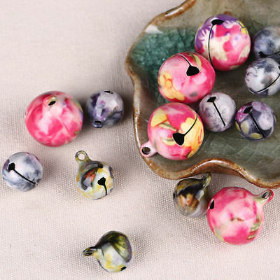14mm 20mm Retro China-wind Printed Copper Jingle Bells Charming Jewelry Findings