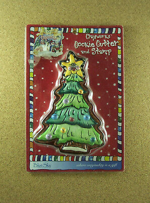 Blue Sky Clayworks CHRISTMAS TREE Cookie Cutter and Stamp Holiday Original