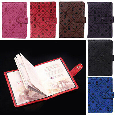 Travel Cute Cat Pattern ID Card Organizer Passport Holder Wallet Cover Protector
