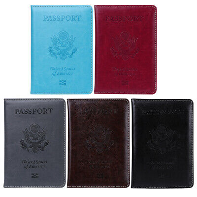 Passport Travel Leather Organizer Holder Card Case Protector Cover Wallet