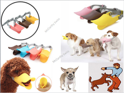 New Duck Mouth Shape Dog Anti Bite Pet Muzzle Adjustable Silicone Bite proof