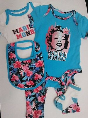 Marilyn Monroe Baby Clothes (5 piece set) 6/9M