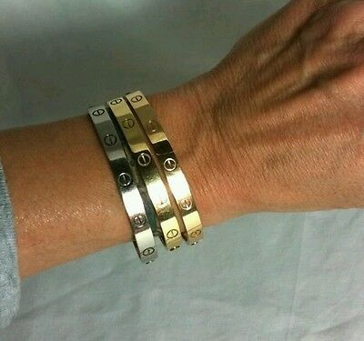 Gorgeous Love Bracelets Bangles Flawless Gold/silver Plated Uk Made Not Cartier