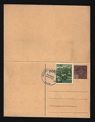 BHUTAN 25 Ch.On 2 Nu.1974 CONCORDE SURCHARGED STAMP RARE TYPE CANCELLATION COVER