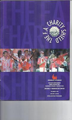 Arsenal v Manchester United Charity Shield Football Programme 1993
