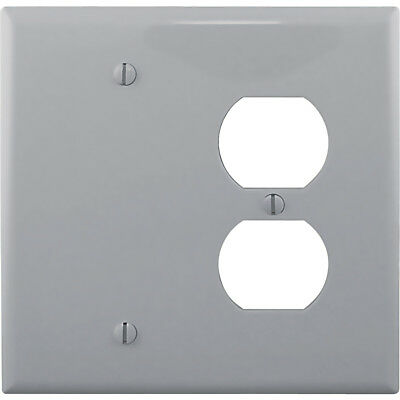 Cooper Wiring Pj138Gy - Wallplate 2G Duplex/Blank Polycarbonate Gray (T53)