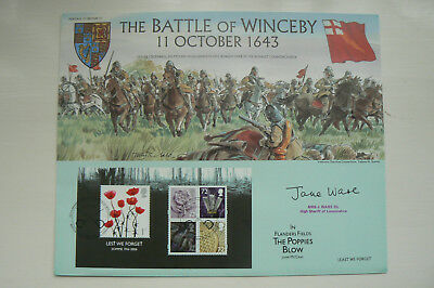 BENHAM HERITAGE OF BRITAIN No 37 SIGNED FDC BATTLE OF WINCEBY