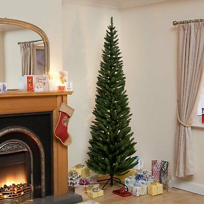 Wrapped Pencil Pine Christmas Tree 5ft 6ft 7ft Xmas Trees by Snowtime Artificial