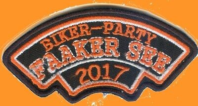 FAAKER SEE Biker Party * 2017 * Aufnäher Patch