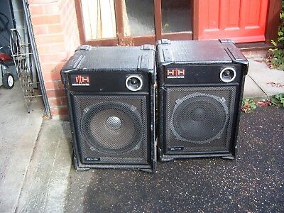Pair of Vintage HH Electronic Pro 15 PA Speakers.