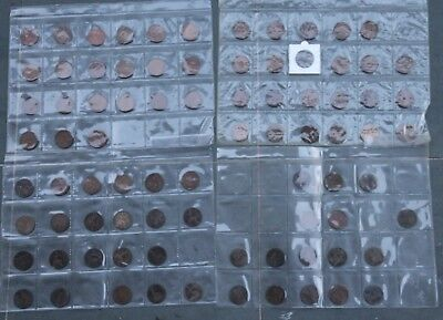 1862-1967 UK Penny Set most dates (no dups) 82 coins all av. circulated