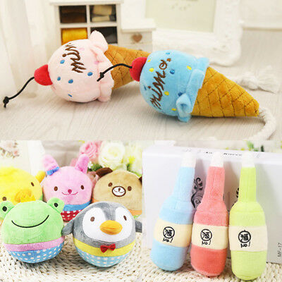 Hot Funny Soft Pet Puppy Chew Play Squeaker Squeaky Cute Plush Sound Dog Toys