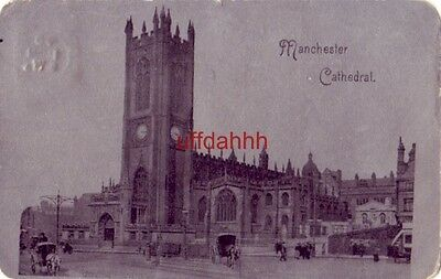 MANCHESTER CATHEDRAL, ENGLAND horsedrawn carriages 1904