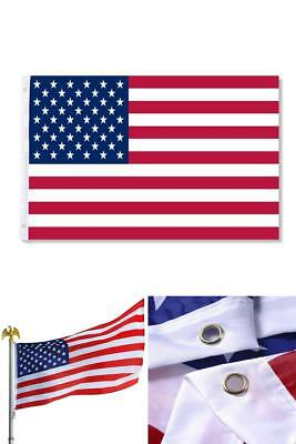 3 x 5 FT American Flag USA  United States US Stripes Stars Brass Grommets Fabric