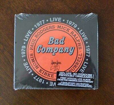 Live: 1977 & 1979 by Bad Company, Paul Rodgers (2CD, Apr-2016, Atlantic) * NEW