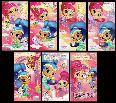 SHIMMER and SHINE ~ OFFICIAL BIRTHDAY CARD or Wrap ~ Great selection