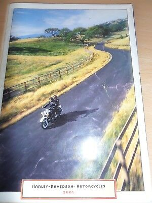 Harley Davidson Range Motorcycle Sales Brochure 2005 + Price List
