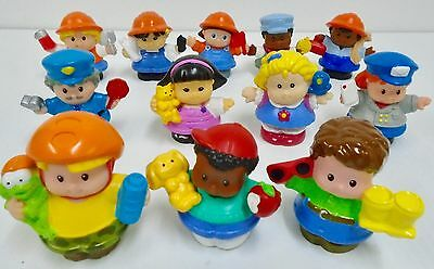 12 Fisher Price Little People Dad w Glasses Construction Workers Engineer Mail