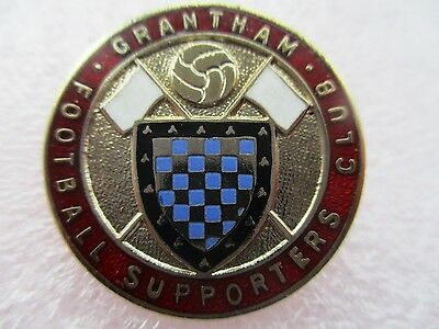 VINTAGE..GRANTHAM FOOTBALL SUPPORTERS CLUB..maker W.O.LEWIS..ENAMEL PIN BADGE