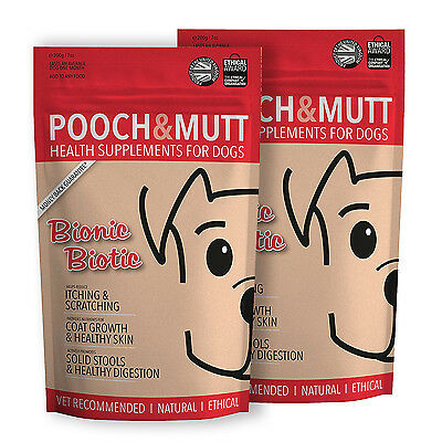 POOCH AND MUTT   BIONIC BIOTIC   Dog supplement for itchy skin (200g) - 2 pack