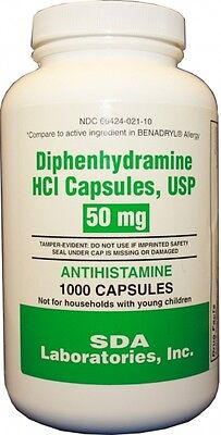 Diphenhydramine 50Mg (Gen Benadryl) Bottle Of 1000