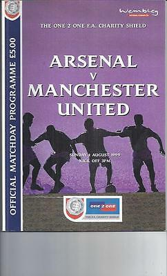 Arsenal v Manchester United FA Charity Shield Football Programme 1999