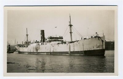 Highland Prince Real Photo Postcard Sunk by German Submarine 1918
