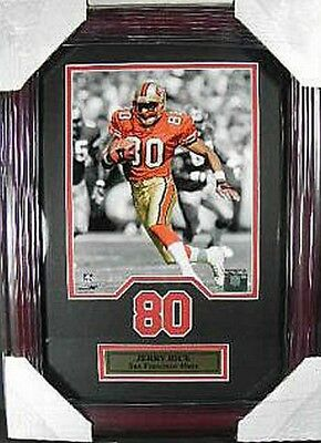 Jerry Rice San Francisco 49 ERS NFL Football, 48 cm Wall Picture Real Wood